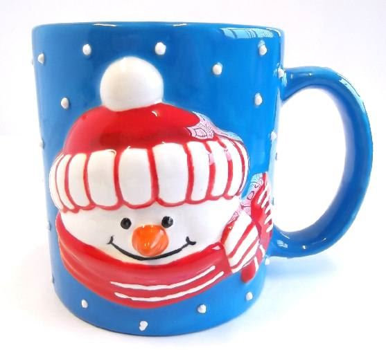 Snowman Mug with raised detail front and back