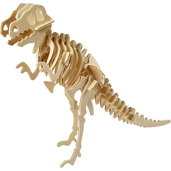 3D Wooden Construction Kit - Dinosaur