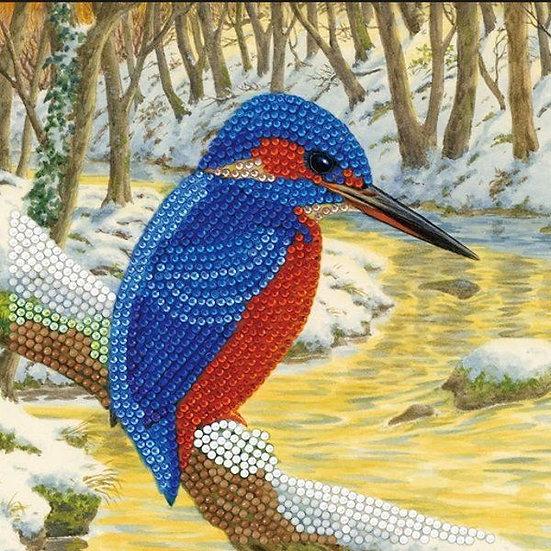 Kingfisher Crystal Art Card Kit