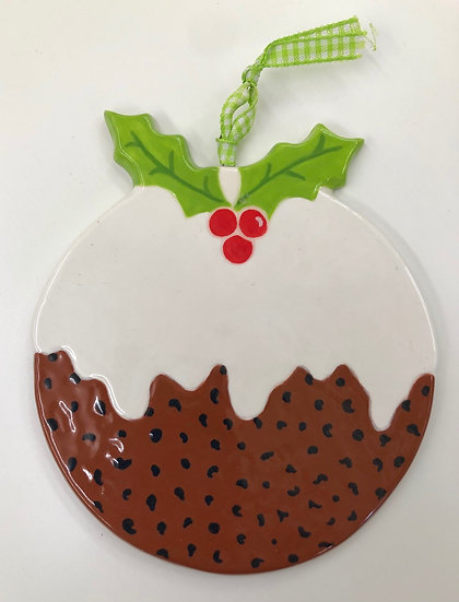 Large fat Christmas Pudding tree decoration