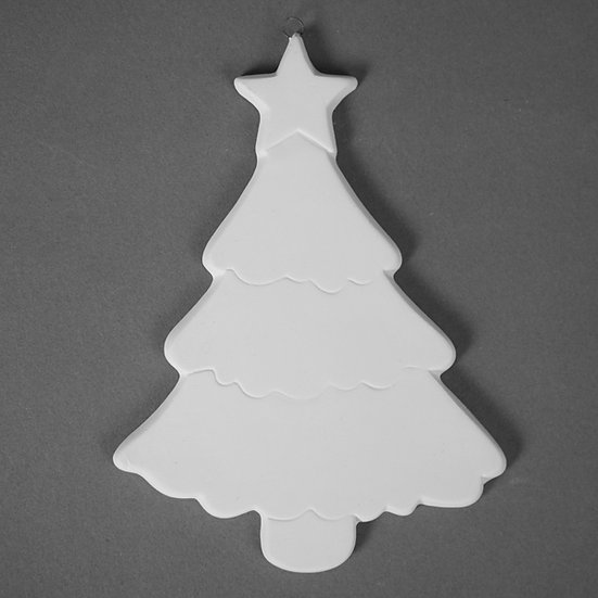 Large flat detailed tree ornament