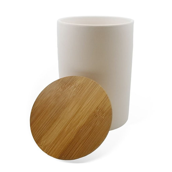 Bamboo Lid Canister with gasket 17.8cm h