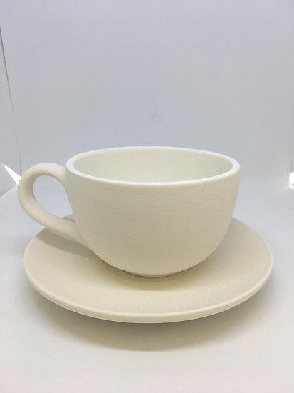 Cappuccino Mug and Saucer