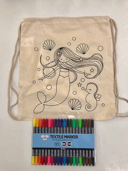 Mermaid bag and textile pen offer