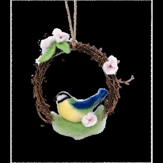 Blue Tit Wreath - Needle Felting Kit