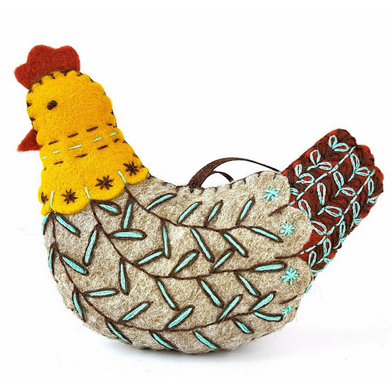 French Hen - Mini Felt Craft Kit