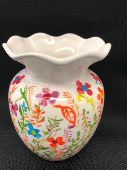 Med ruffle neck vase 16cm h