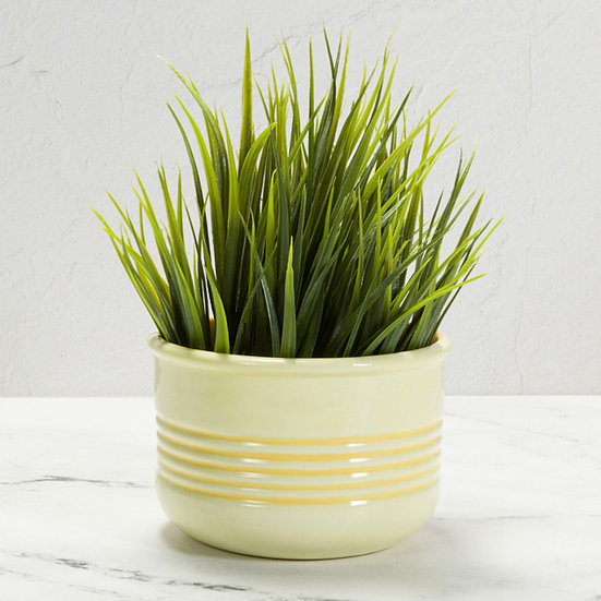 Textured Bowl / Planter / Container - Ribbed Detail