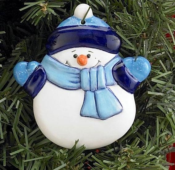 Flat Snowman Tree ornament