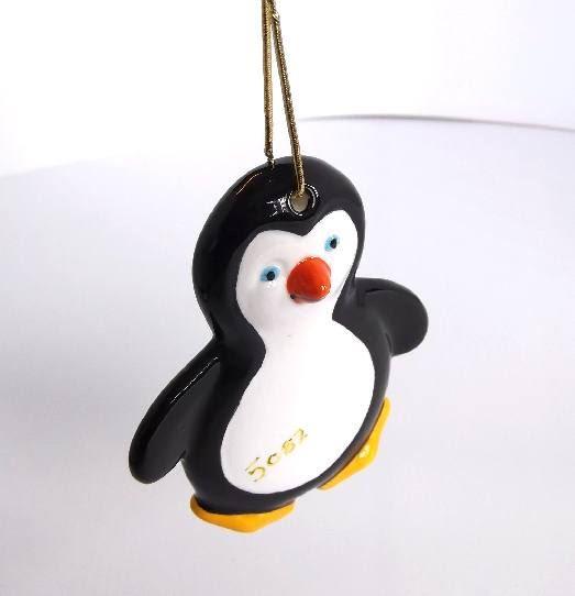 Flat penguin Tree ornament
