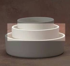 Med straight-sided pet bowl 18.1cm x 6.4cm