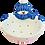 Thumbnail: Snowman bowl - 16.5cm d x 10.8cm h