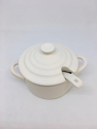 Salt Pot with Spoon