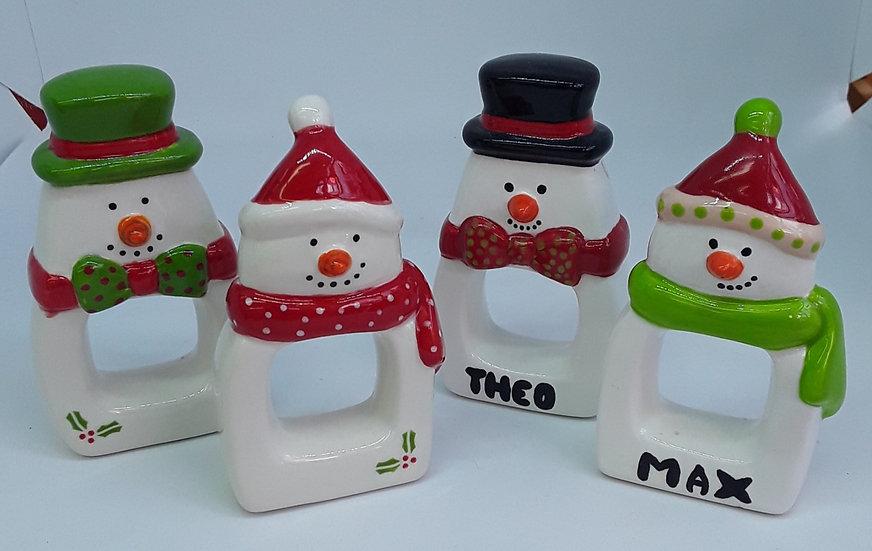 Snowmen Napkin Holders - set of 2