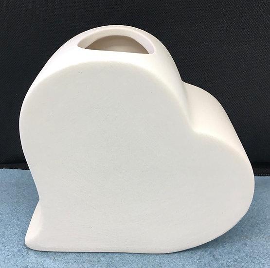 Small Heart Vase 13cm x 11.5cm