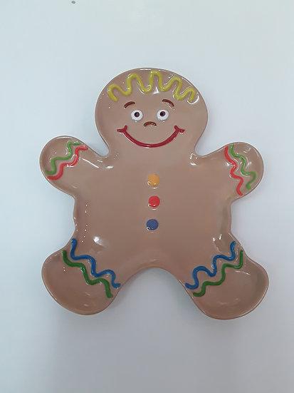 Gingerbread man plate 27.3cm l x 23.5cm w