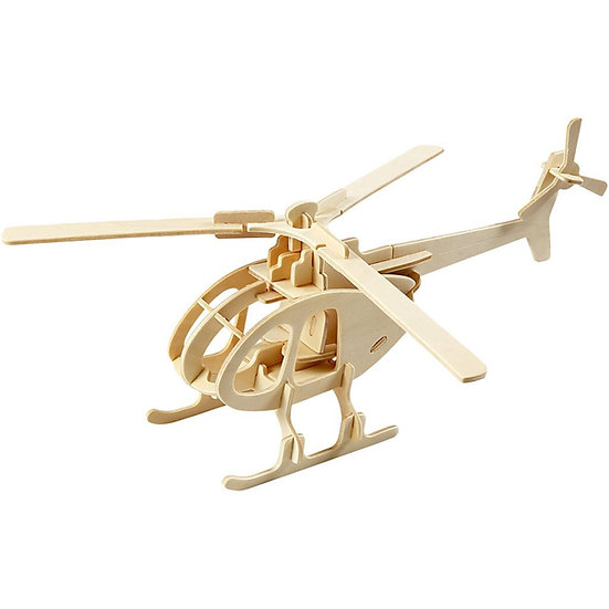 3D Wooden Construction Kit - Helicopter