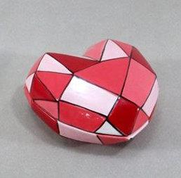Faceted Heart Box 12cm x 6cm h