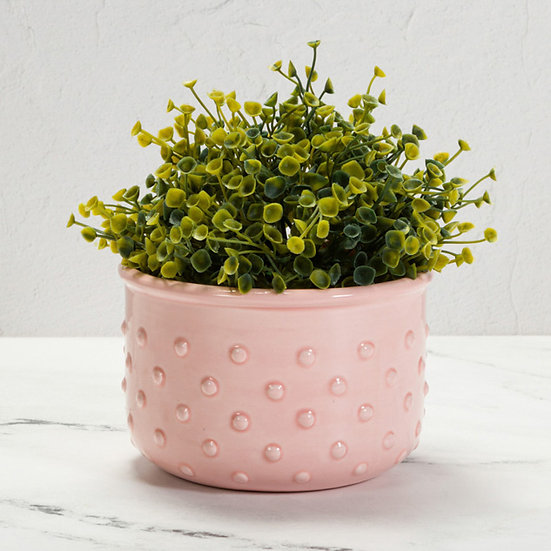 Textered Bowl / Planter / Container - Bobble Detail