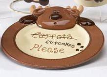 Reindeer Rimmed Plate