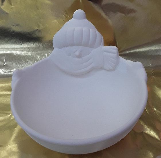 Snowman bowl - 16.5cm d x 10.8cm h