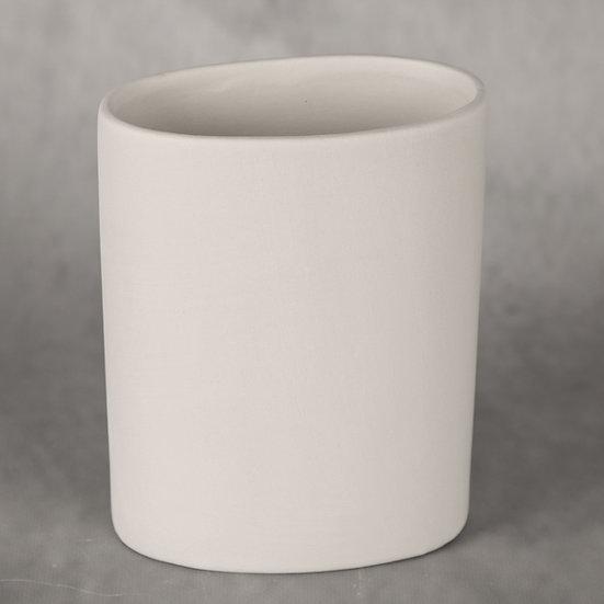 Elliptic Vase / utensil holder 13cm x 7.5cm x 16.5cm