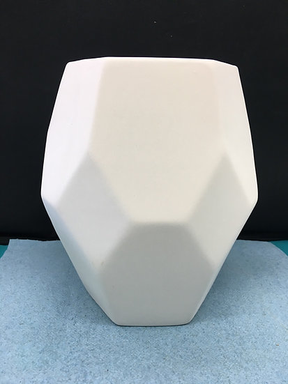 Wide Faceted Vase 18cm h