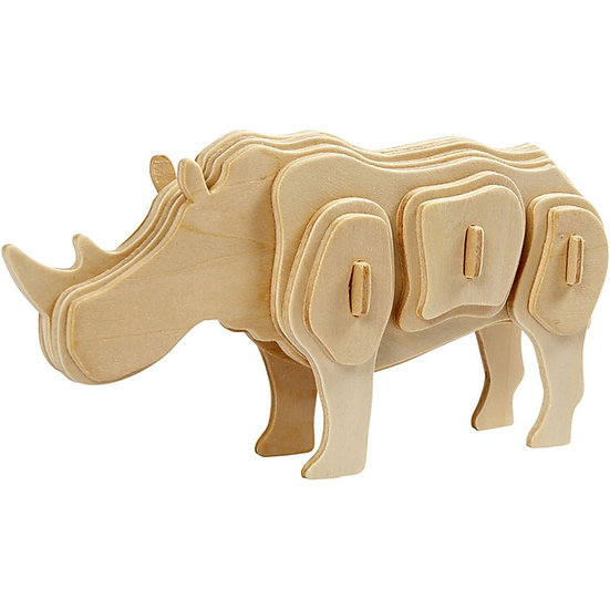 3D Wooden Construction Kit - Rhino