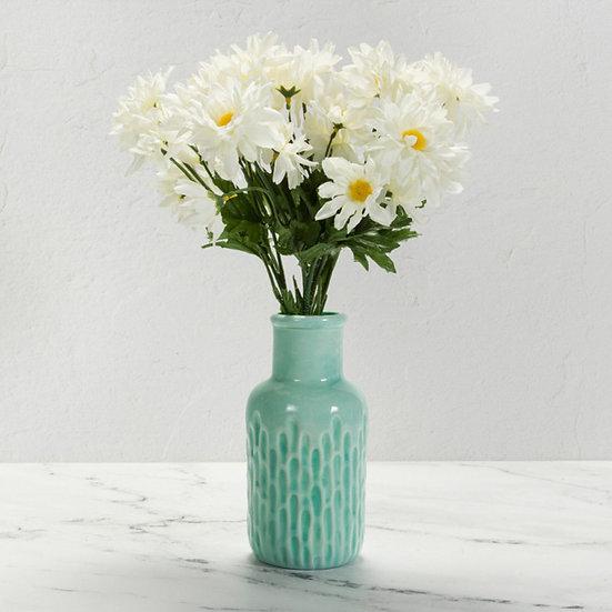 Textured Bud Vase - indent detail