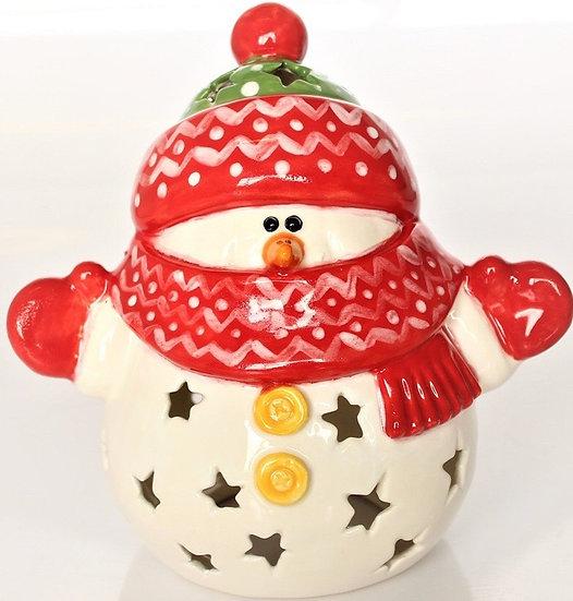 Lg snowman  Lantern - 15.2cm