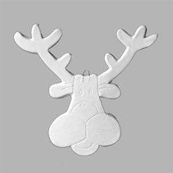 Large flat reindeer tree ornament