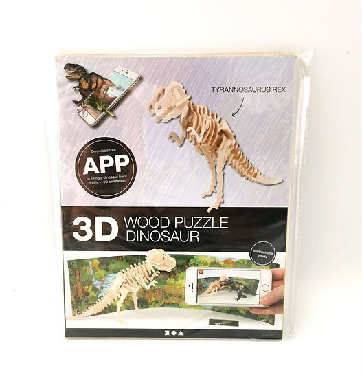 3D Animated Wooden Puzzle - T Rex