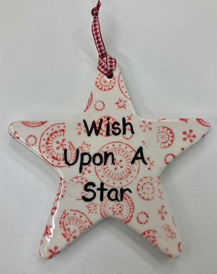 Large star ornament - 12cm x 11.5cm