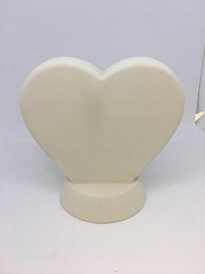 Standing Heart Plaque