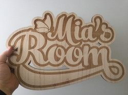 Maple wood sign