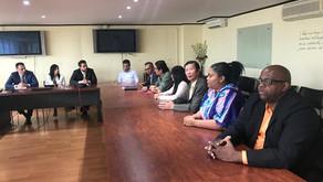 Representantes del movimiento 'Por y para Limón' estuvieron en Casa Presidencial.