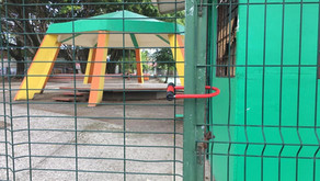 Municipalidad puso candado a espacios públicos para evitar el ingreso de personas