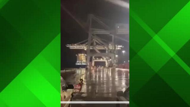 Video muestra el momento en el que rayo impacta grúa de la TCM