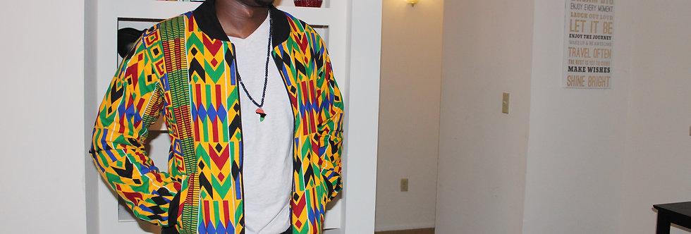 Kinyua Style Kente Bomber Jacket