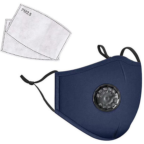 LANDOU Reusable Fabric Face Mask with PM2.5 Filters & External Valve (Adults-Non
