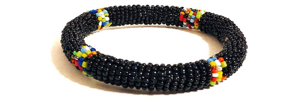Handmade Maasai Bracelet-Black