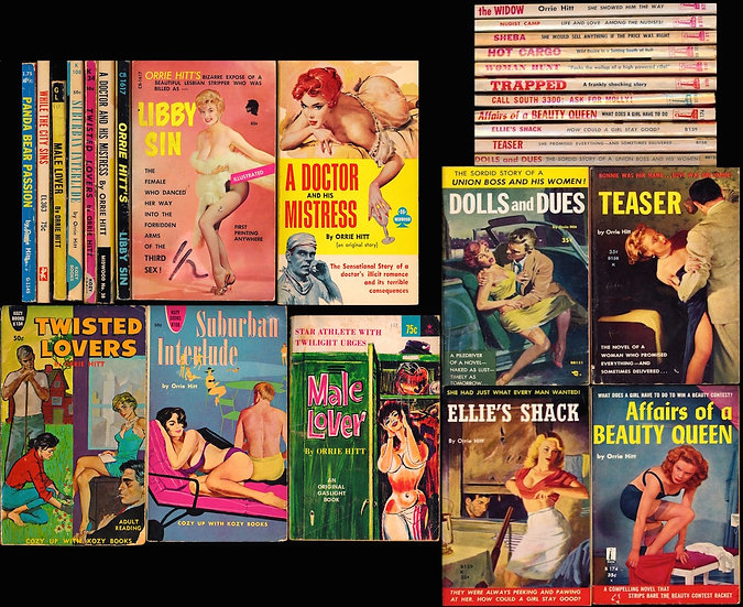 Orrie Hitt (22 vintage adult paperbacks, 1957-68)