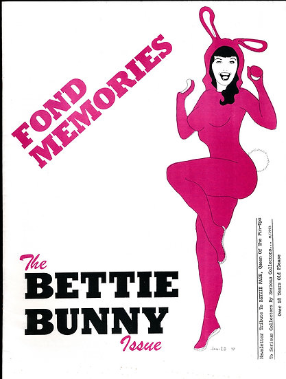 Fond Memories: The Bettie Bunny Issue (Vintage adult fanzine)