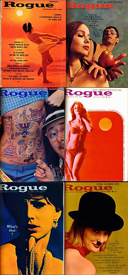 Rogue [Designed for Men] (6 vintage adult magazines bound together, 1962-65)