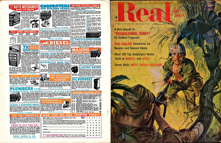 Real (Vintage adventure magazine, April-May 1958)