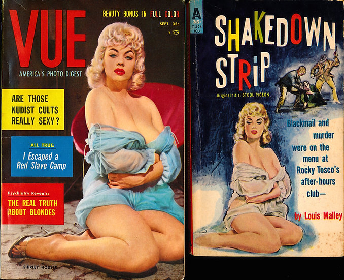 Shirley Houser, cover model (Vintage digest pin-up magazine & paperback)