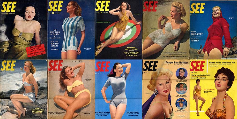 See (10 vintage magazines, 1946-56)