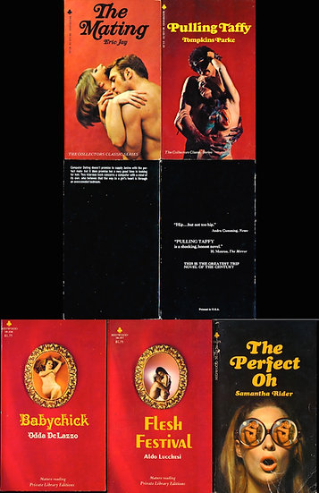 Midwood Books: Collectors Classic, Private Library (5 vintage adult paperbacks)