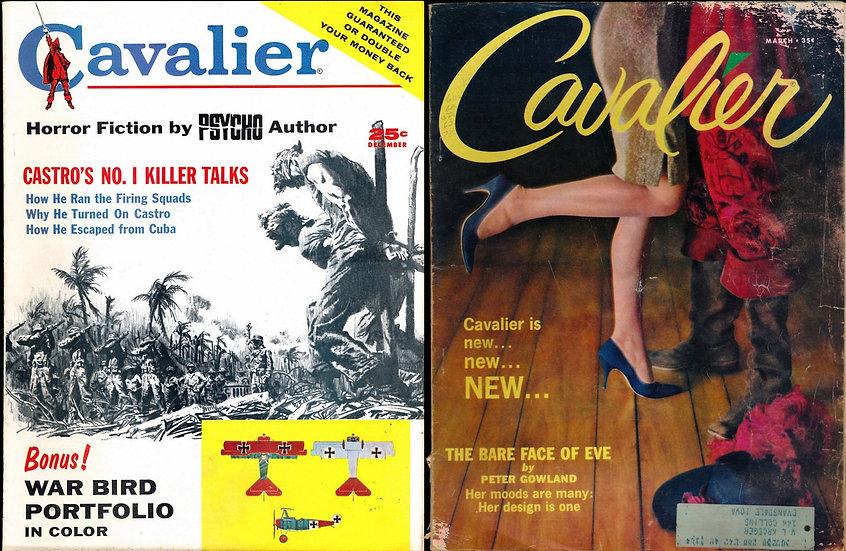 Cavalier (2 Vintage adult magazines, 1960s)