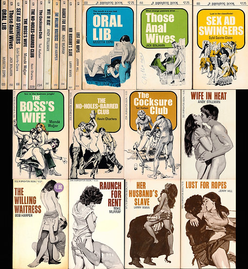 Brighton Books (11 vintage adult paperbacks, 1974-77)